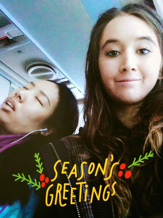 Everyone is posting lovely photos of them and their loved ones making happy Christmas memories so I thought I would jump on the bandwagon... Merry Christmas from me and the random lady who fell asleep on me for an entire two hour bus journey. I hope everyone's special day was as cozy as ours!
